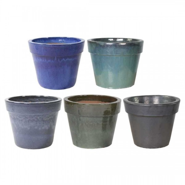Glazed Basic Pot Green 22cm