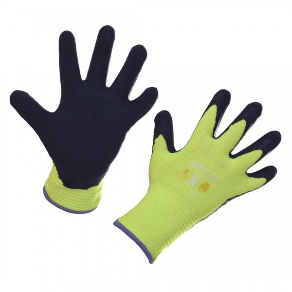 Kinderhandschuh Kids lemongelb 4-6 latexbeschichtet