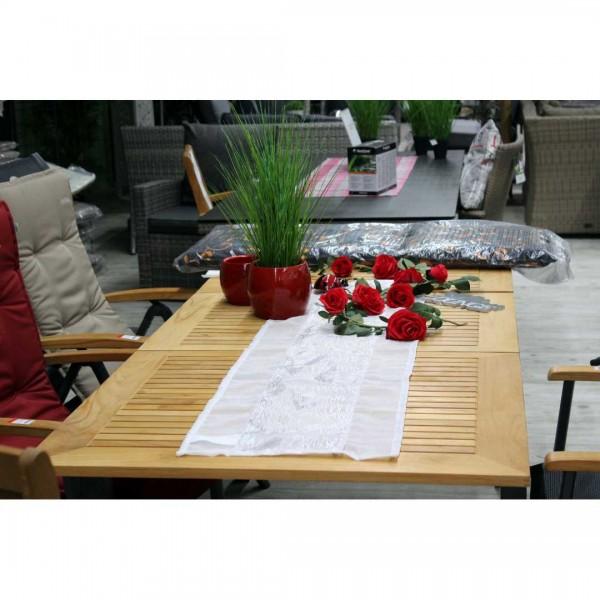 Tischdecke weiß LED 85x85cm