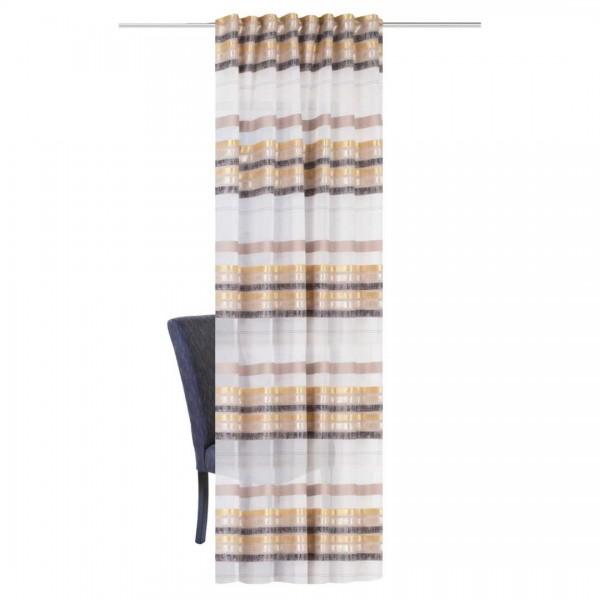 Fertigschal Querstreifen beige/grau 140x245cm