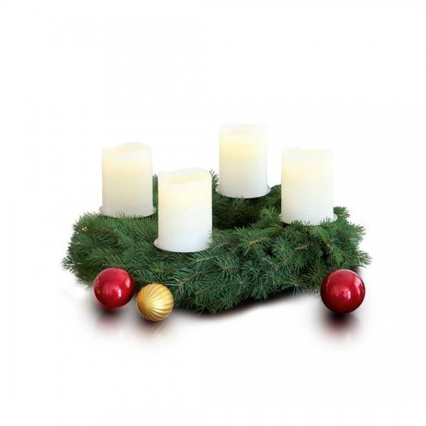 4er LED-Kerzenset creme 7,5x10cm