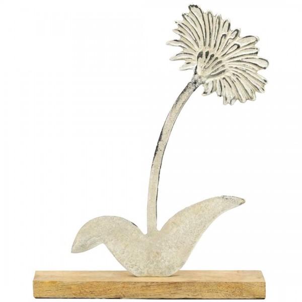Blume Puri, 25x5x32cm, Holz/Alu