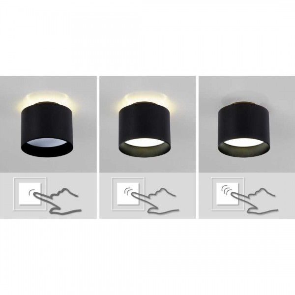 LED Spot Trios 10cm schwarz