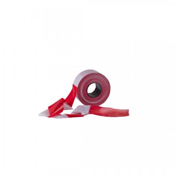 Absperrband rot/weiß 80mmx500m