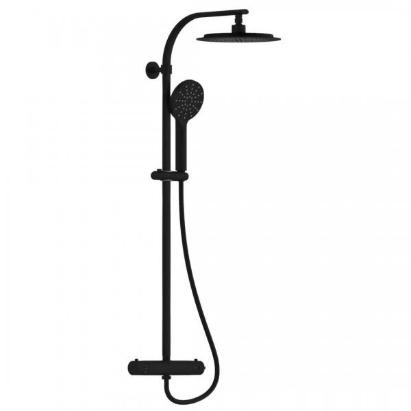 Madura Fresh Überkopfbrauseset mit Thermostat matt schwarz