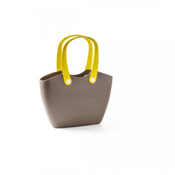 Handtasche FOR LIVING BAG Holzbraun