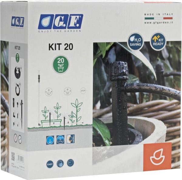 Micro-Drip MAXI Komplett-Set von bis zu 20 Pflanztöpfe mit 20m Rohr