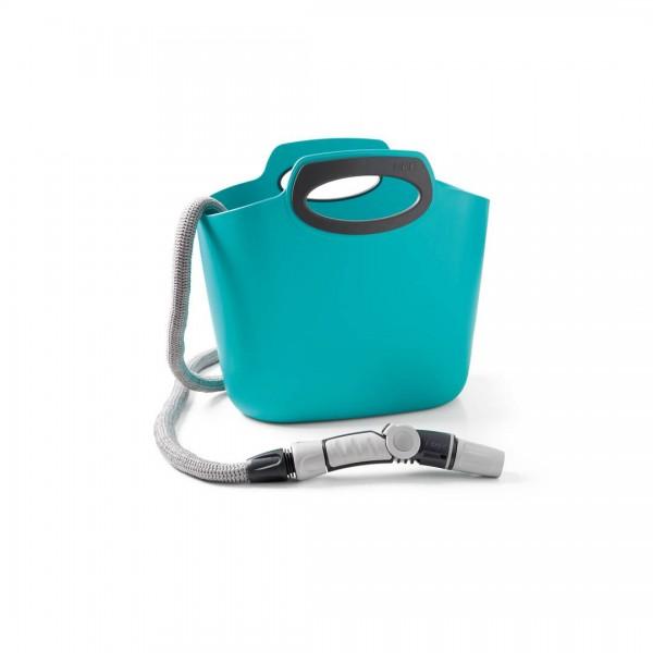 Aquapop 30m Flexschlauch mit Tasche - Aquamarin