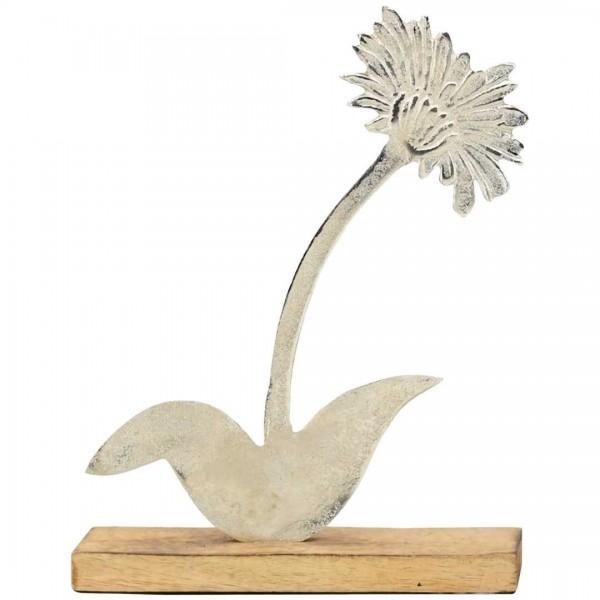 Blume Puri, 20x5x26cm, Holz/Alu
