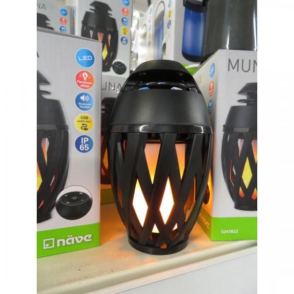 LED Tischleuchte Muna mit BT Speaker