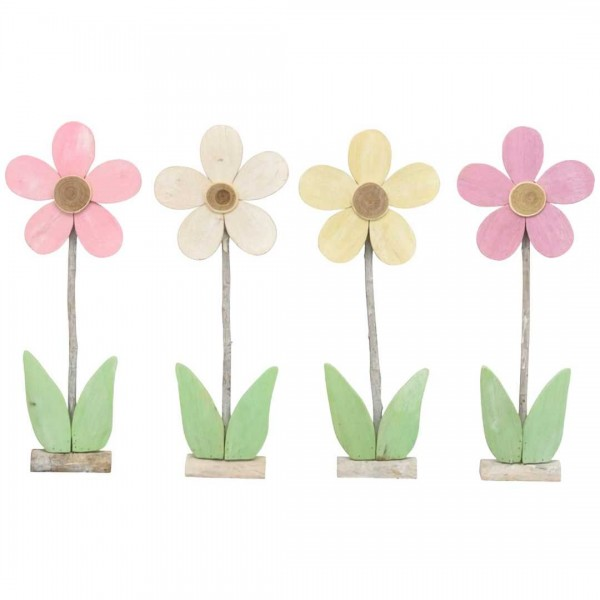 Blumen Dost 24x61cm, farbig, Holz